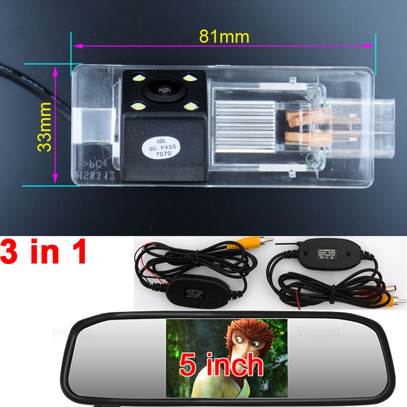 For Renault Fluence Clio 4 Captur Car Reverse Rear View Wireless Vehicle Parking Accessaries Kit font