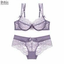 44eeec05d Venda quente Sexy Rendas Roupas Íntimas Femininas Definir Ultra Fino  Transparente de Renda Conjunto de Sutiã