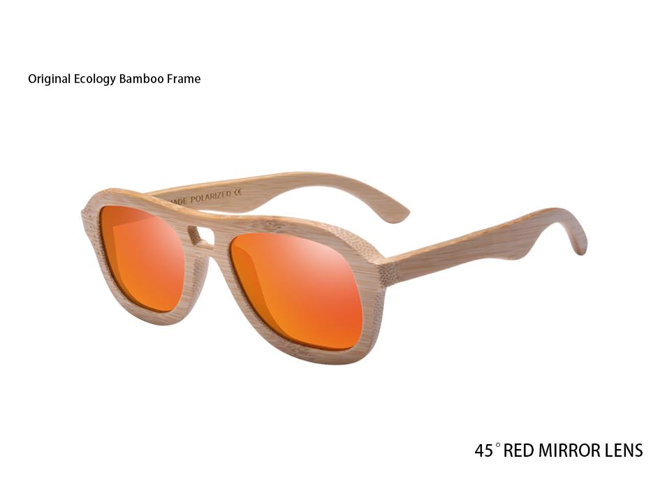 828dbbb81 AOFLY BRAND DESIGN Wood Polarized Sunglasses for Women Handmade Bamboo  Frame Sunglasses Fashion Twin-Beams Mirror Shades AF610