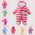 2016 novos chegada de moda macacão de bebê inverno Recém-nascidos Macacão Unisex Natal traje Do Bebê Manga Longa De Algodão Bebê Outerwear