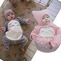 Totoro de dibujos animados Conjunto Bebé Ropa de Algodón de Manga Larga de Terciopelo Otoño e Invierno Casual Ropa de Recién Nacido Bebé Mameluco y Sombrero 3 tamaño Para 0-2Y