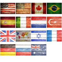 Funlife Canvas Oil Painting Home Decoration Framed Wall Art Picture Flag Of Turkey For Living Room