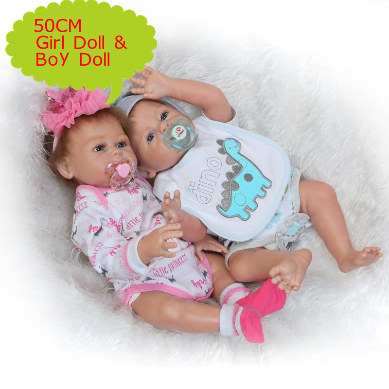 Npk 50cm Full Body Silicone Reborn Baby Doll Girl And Boy