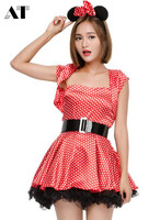 Halloween Costume Mouse Women Dress Mini Mouse Costume Fancy Dress Cosplay Party Sexy