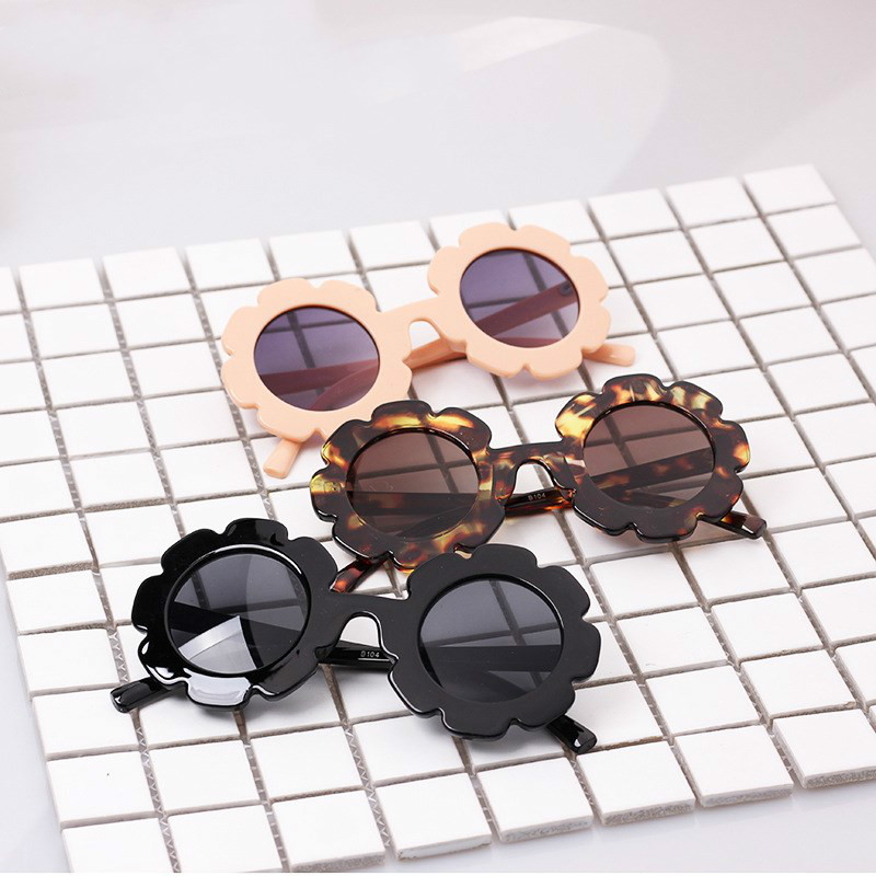 Vintage Modis Child Sun Glasses Round Flower Kids Sunglasses Gafas Baby Children UV400 Sunglasses Girls Boys Oculos De Sol