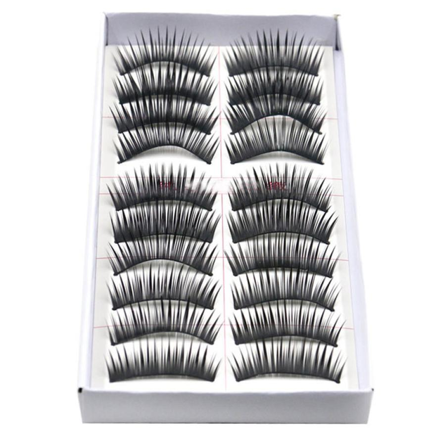10 Pairs Of Eyelashes Party Pretend Thick Stage Makeup Essential Simulation Eyelashes Sep 26