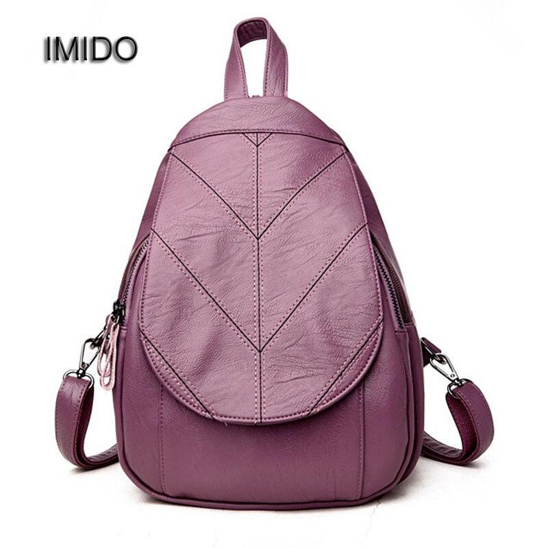 IMIDO 2017 Hot Brand Backpack PU Leather Backpacks for Women Backbag School Shoulder bags girls Rucksack mochila feminina SLD062
