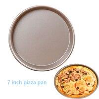 7 дюймов пиццы антипригарным испечь вечерние олова торт поднос круглый пиццы хлеб лоток выпечки аксессуары инструменты