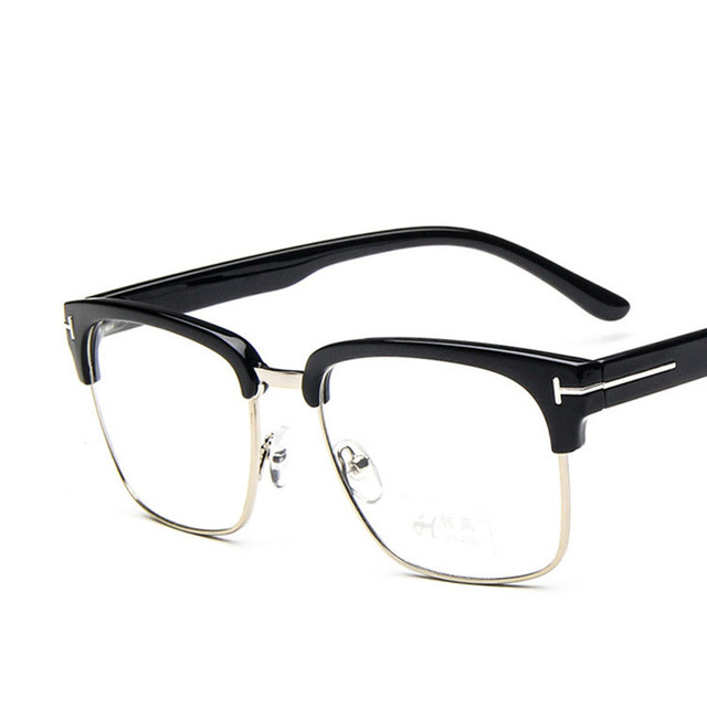 Classic Square TF Glasses Frame Men Women Myopia Prescription Clear ...