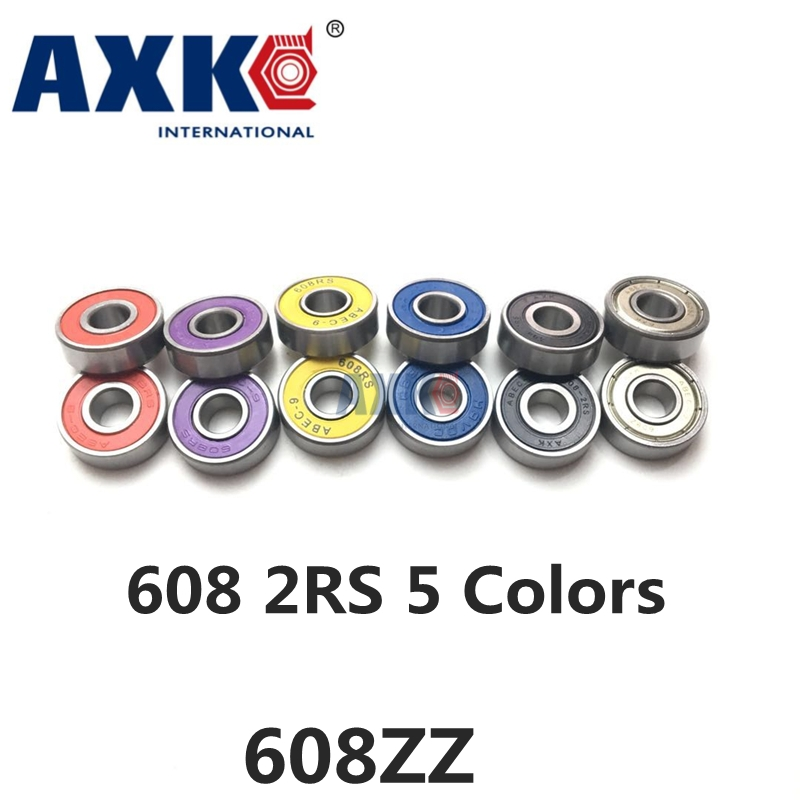 608 608ZZ 608-2RS 608RS 608 2RS R-2280HH 8*22*7mm ABEC7 ABEC9 Z3V3 minideep groove ball bearing Yellow/Blue/Red/Black/Purple AXK стоимость