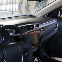 Interior 4PCS ABS Matt Front Center Dashboard Trim For Toyota Corolla E170 2014 2017 Left Hand Drive
