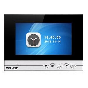 """Image 4 - Gratis Verzending 7 """"Kleur Screen Lcd Ui Display Video Deurtelefoon Intercom Opname Systeem + Rfid Toegang Unlock Deurbel camera"""