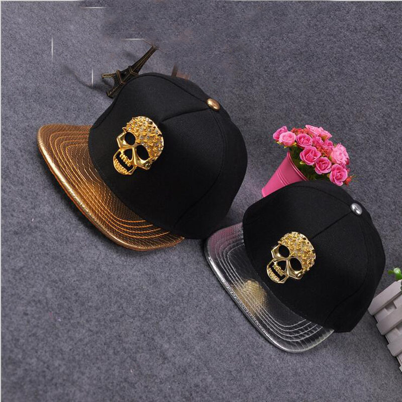2017 New High Quality Casual leather Skull Design Metal Logo Pattern Baseball Cap Hip Hop Snapback Caps Hat Bone For Men Wo 35colors silver gold soild india scarf cap warmer ear caps yoga hedging headwrap men and women beanies multicolor fold hat 1pc