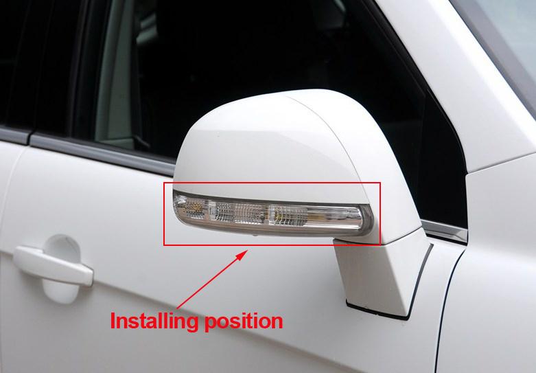 envo gratis nuevo espejo retrovisor de seal de vuelta led luz lateral de la lmpara para