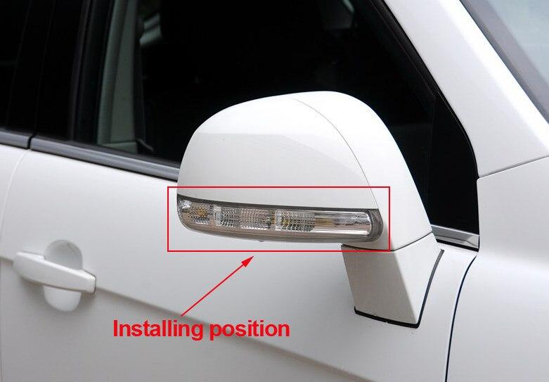 Free shipping new rear view mirror turn signal LED font b light b font side lamp