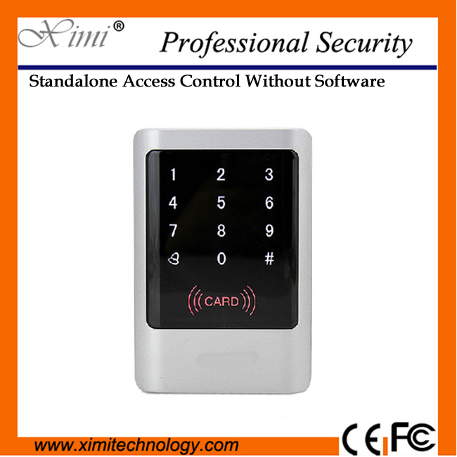 New generation proximity card reader touch panel 12V DC 125KHz EM card reader wiegand 26 standalone access control turck proximity switch bi2 g12sk an6x