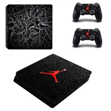 Air Man: Jordan Vinyl Decal Skin PS4 Slim Sticker for Playstation 4 Slim Console System Skin + Two Controller Stickers Cover