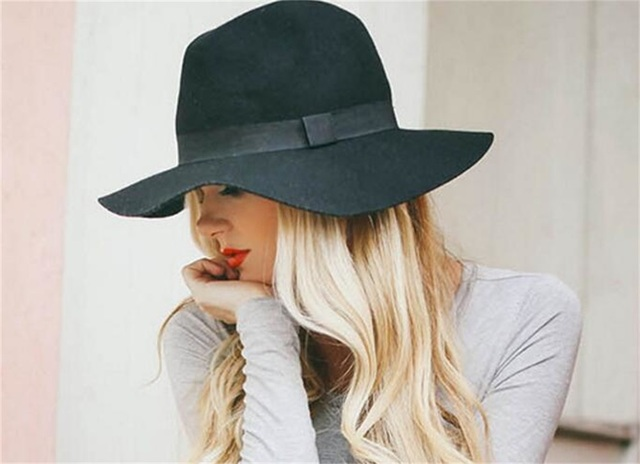 9b6e8bbe34d 6pcs lot Classic Mens Formal Floppy Pure Wool Fedora Hats Women Winter  Woolen Fedoras Hat Autumn Men Felt Trilby Caps Wholesale