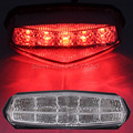 Motorcycle 10 Red LED Clear Lens Brake Stop Running Lamps Rear Tail Light Indicator