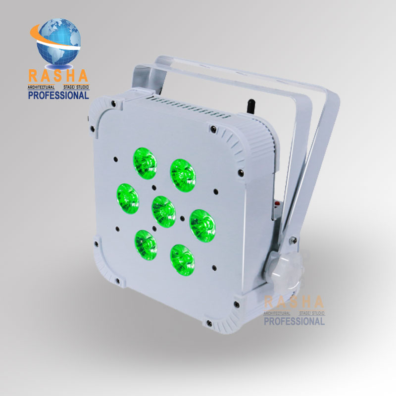 Rasha Hex 6in1 RGBAW+UV Built in Wireless LED Flat Par Profile,LED Flat Slim Par Can,Disco DMX512 Stage Light yun buckwheat