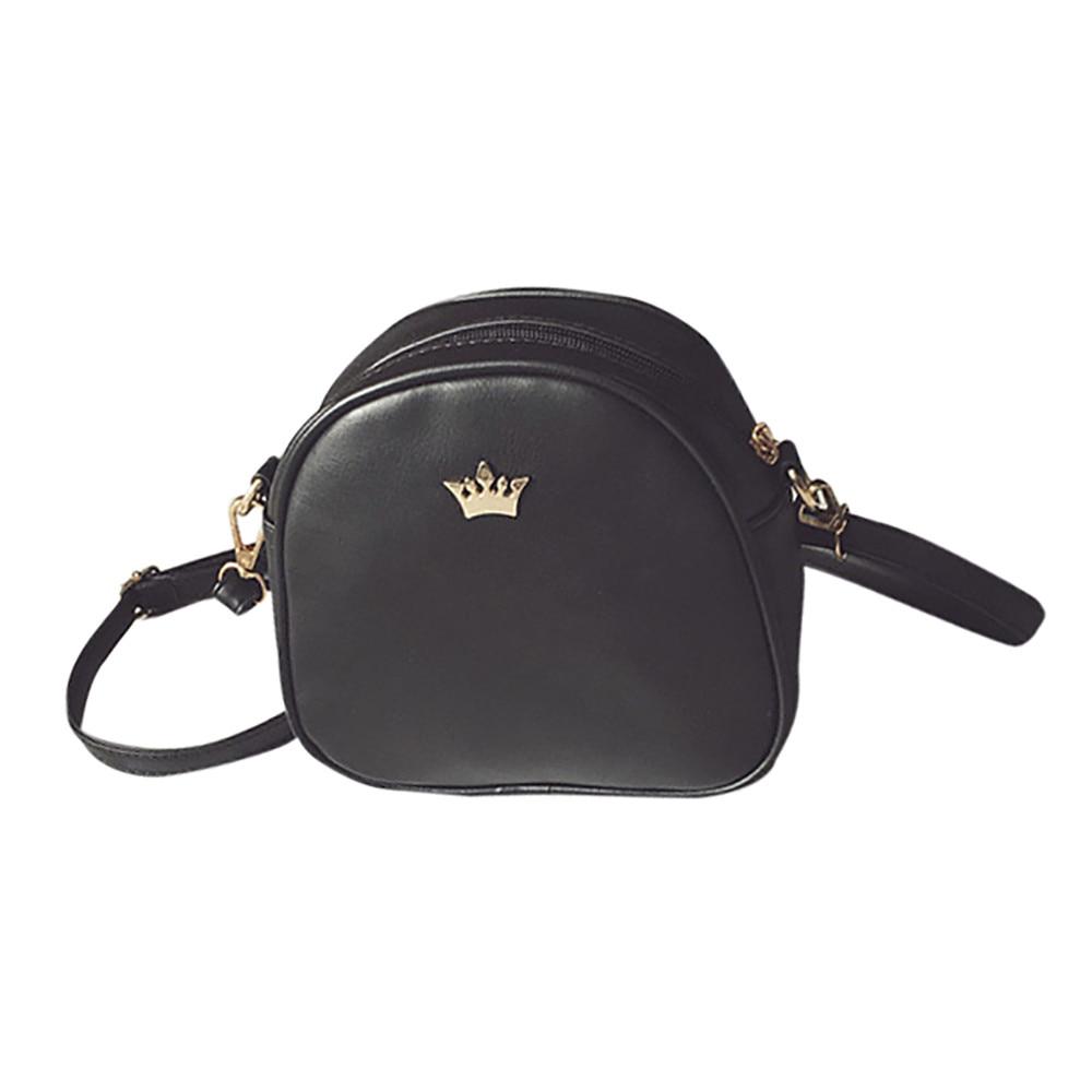 000c50a46281 2019 Fashion Women Handbag Messenger Bags PU Leather Shoulder Bag Lady  Crossbody Mini Bag Female Crown