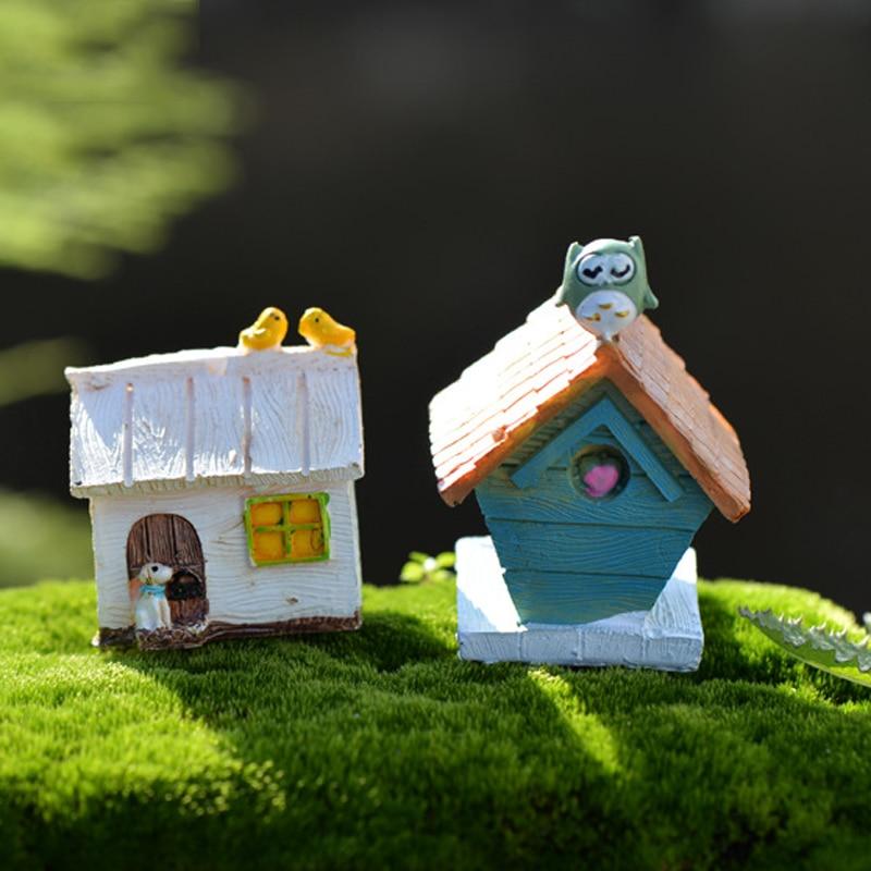 2pcs Bird House Fairy Garden Miniatures Bonsai Tool Terrarium Home  Decoration Accessories Micro Landscape Resin Craft Zakka DIY. Online Get Cheap Resin Bird Houses  Aliexpress com   Alibaba Group