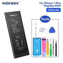 NOHON Lithium Li Ion Battery Best Replacement 3.82V 3360mAh For Apple IPhone 7 Plus 7Plus IPhone7 7+ With Open Tools