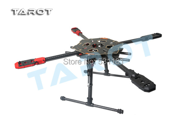 Tarot 650 Sport CF PCB Center Plate Quadcopter Frame Kit with Folding Landing Gear TL65S01 500mm pcb board with landing gear for fpv quad s500 pcb quadcopter multicopter frame kit gopro gimbal f450 rc spare parts