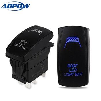 цена на ADPOW 24V Car Boat Truck Lighted Toggle Switch 5pin ON-OFF Waterproof Led Car Boat Toggle Rocker Switch 12v
