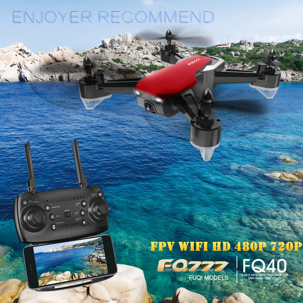 OCDAY FQ777 FQ40 RC Drone 480P 720P Wide-Angle FPV WIFI HD Camera Drone Hover RC Helicopter Quadcopter Drones 3D Flip Drones