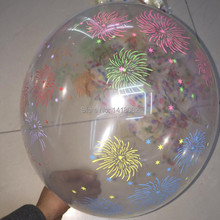 Transparent printing balloon (50pieces/lot) 12 inch 2.8g round clear latex colorful Fireworks free shipping