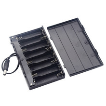 12V 8 x AA Battery Holder Case Box With Leads Switch Power Bank Battery Holder DC2.1*5.5(China)