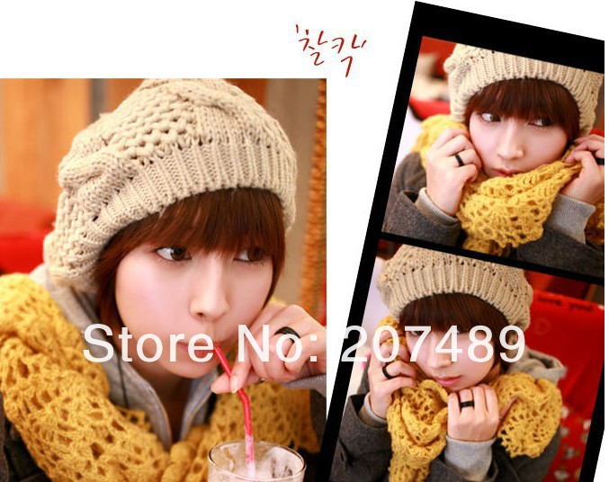 ladies''s fashion flower bud Leisure Knitted hat Beanie Cap Autumn Spring Winter multi colors option wholesale ladies s fashion colorful fur ball leisure knitted hat beanie cap autumn spring winter multi colors option