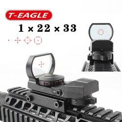 Panas 15-22 Mm Rel Riflescope Berburu Optik Hologram Red Dot Sight Refleks 4 Reticle Taktis Lingkup Collimator Pandangan