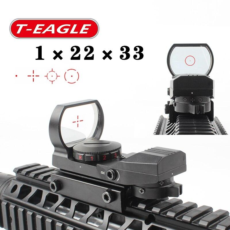 Quente 15-22mm ferroviário riflescope caça óptica holográfica red dot sight reflex 4 reticle tactical scope colimador vista
