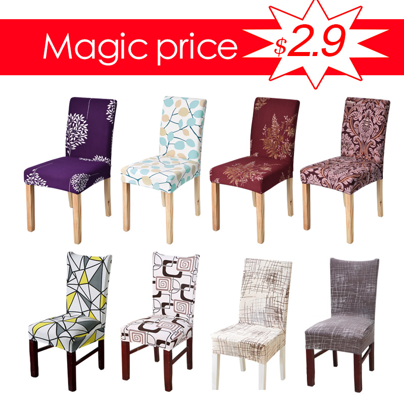 Spandex Chair Cover Stretch Elastic Dining Seat Cover for Banquet Wedding Restaurant Hotel Anti-dirty Removable housse de chaise phfu coussin housse chaise haute rehausseur nomade siege repas bebe