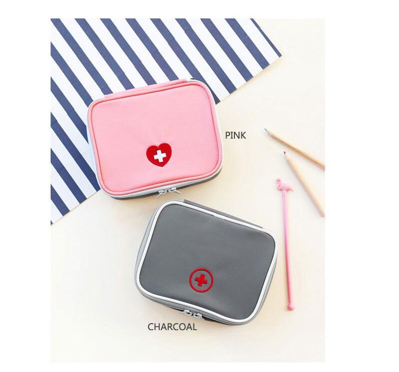 цена на Outdoor fashion travel portable medical kit first aid kit with small medicine bag sundries storage bag