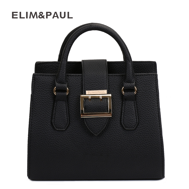 ELIM&PAUL Top-Handle Bag for Women Fashion Box Tote PU Leather Crossbody Women Messenger Bags Women Handbags Women Bag Female aosbos fashion portable insulated canvas lunch bag thermal food picnic lunch bags for women kids men cooler lunch box bag tote