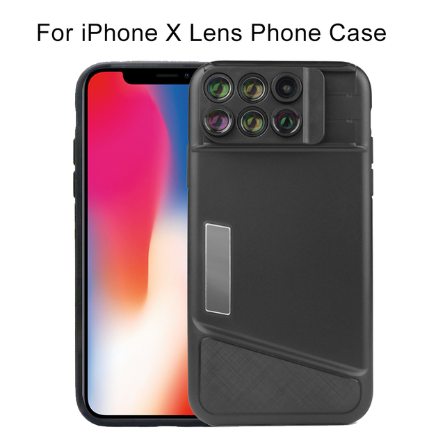 the best attitude d55af 7e4db US $40.49 19% OFF|2018 New Arrival Dual Camera Lens For iPhone X 8 Plus  Fisheye Wide Angle Macro Lens For iPhone 7 Plus Phone Case Telescope  Lens-in ...