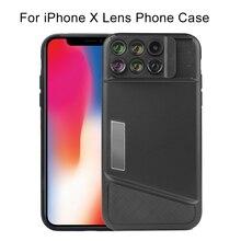 цена на  2017 New For iPhone 7 Plus Dual Camera Lens Fisheye Wide Angle Macro Lens Telescope Lens For iPhone 7Plus Camera Phone Lens