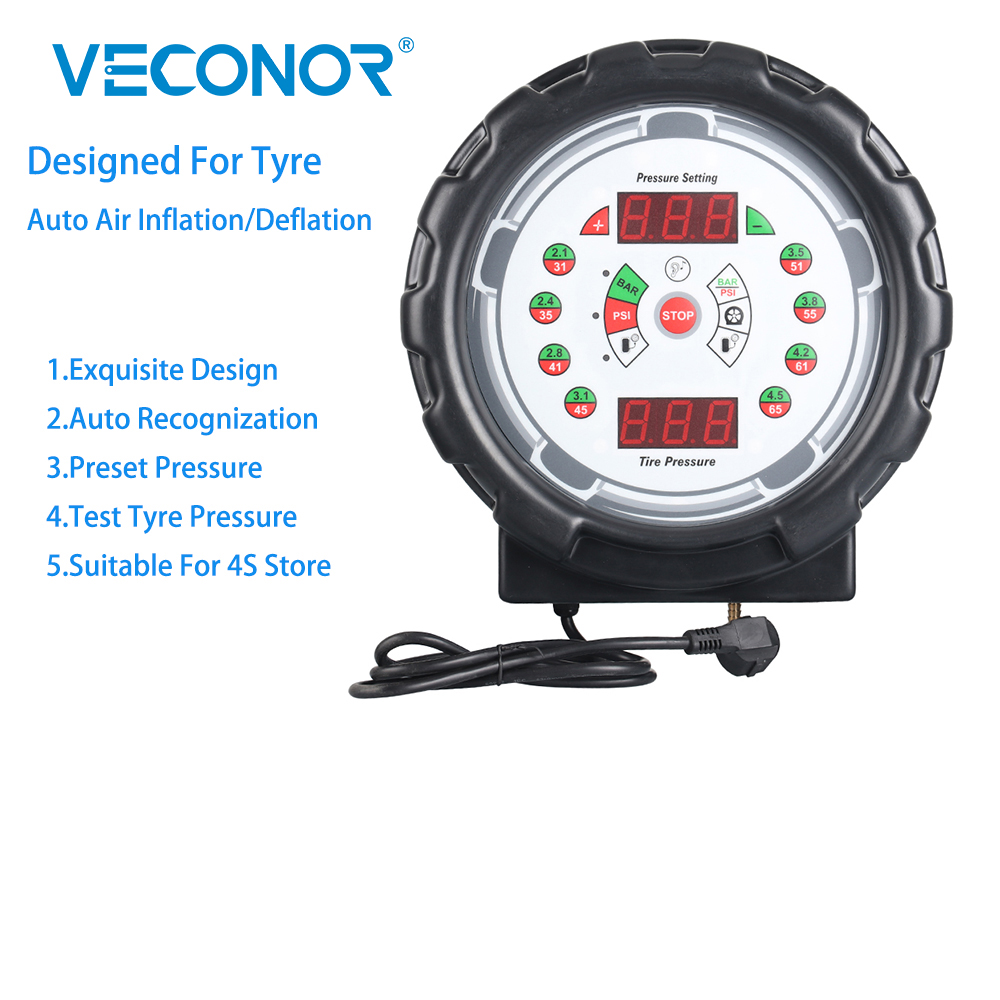 Veconor Automatic Tire Inflator Air Pump With Digital Screen Car Diagnostical Tools For 4S Store Tyre Store Car Decorating Store