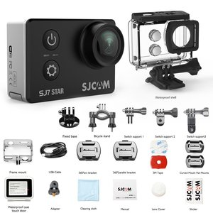 "Image 5 - オリジナル SJ7 スター 4 18K 30fps 超 HD SJCAM アクションカメラタマゴノキ A12S75 2.0 ""タッチスクリーン 30 メートル防水リモコンスポーツ DV"