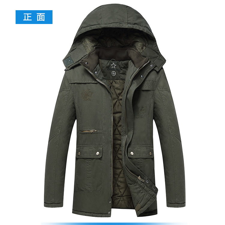 Winter Fashion Mens Warm Hooded Long Jacket Military Parka Fur Lined Duffle Fleece Cashmere Coat