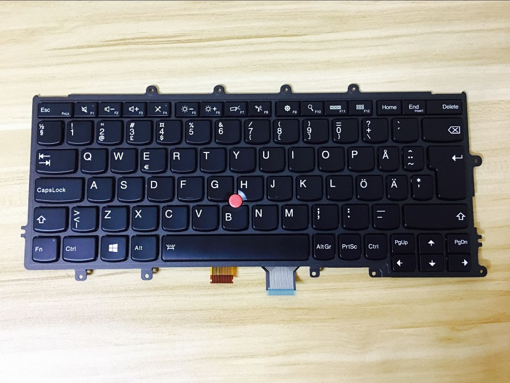 New keyboard for Lenovo ThinkPad X240 X240S X240I X250 X260 series QWERTY SD/SWEDISH layout neworig keyboard bezel palmrest cover lenovo thinkpad t540p w54 touchpad without fingerprint 04x5544