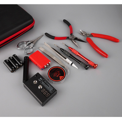 Fixmee New Arrival Vape Tool Bag Kit Combo Set Full DIY Kit V2 Jig Meter Tweezer Heat Wire Plier VS Accessories