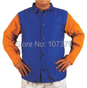 Split Cow Leather Welding Clothing Leather Welding Aprons FR Cotton Leather Welding Jackets split