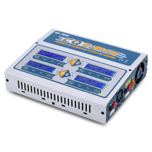 EV-PEAK CQ3 100W x 4 10A four channel RC Balance Lipo Battery Charger LiHV Life Nimh Nicd Battery Digital LCD Screen Discharger