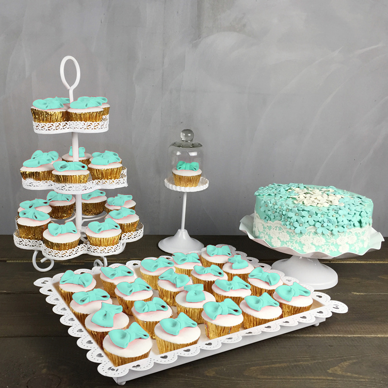 4pcs Wedding Cupcake Stand Set Cake Holder Cupcake