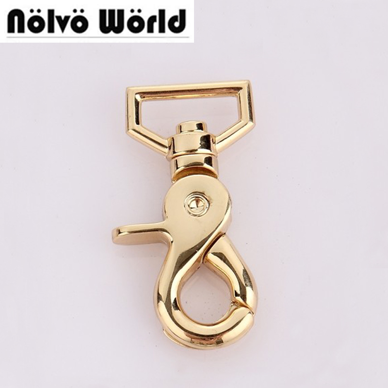 3.3mm (3/4 inside) trigger snap hook swivel clasp lobster claws swivel hooks hardware top quality for leather goods