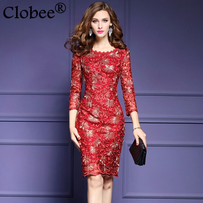 Popular Plus Size Red Dress with Sleeves-Buy Cheap Plus Size Red ...